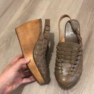 Anthropologie Fiel 6 Women's Wedges Heels Woven